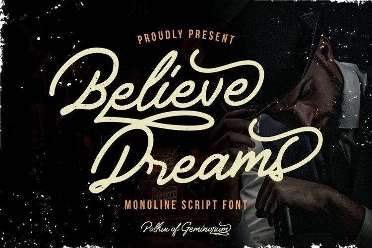 Believe Dreams example image 1