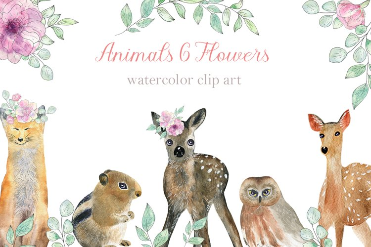 Animals and Flowers example image 1