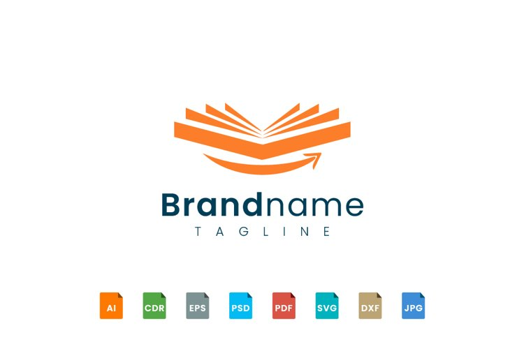 Book logo design opens with a smile example image 1