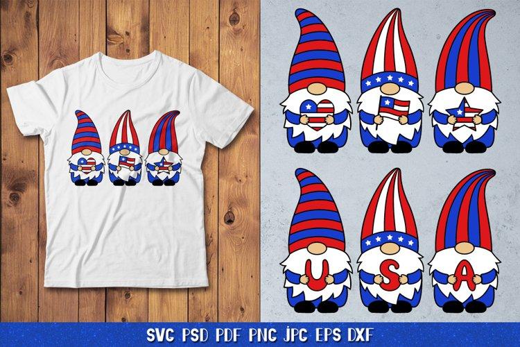 4 Of July Gnomes SVG,Patriotic Gnomes SVG,USA Gnomes SVG,PNG