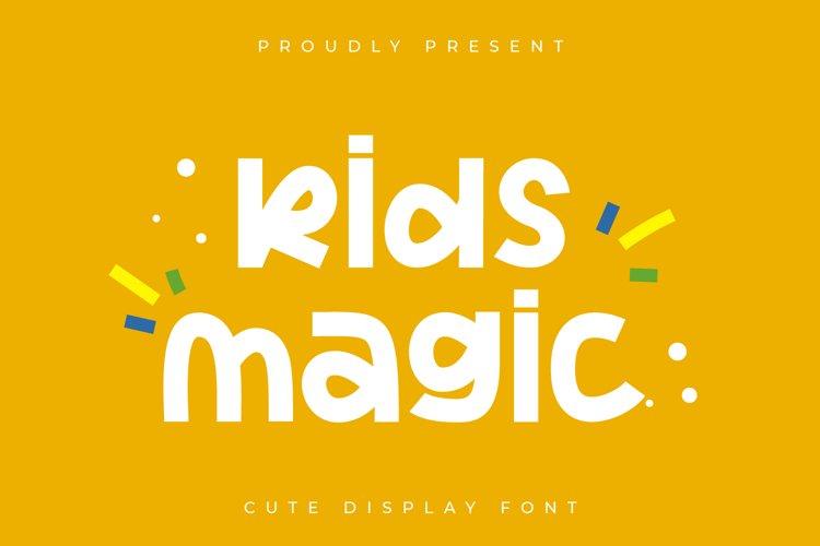 Kids Magic - Cute Display Font example image 1