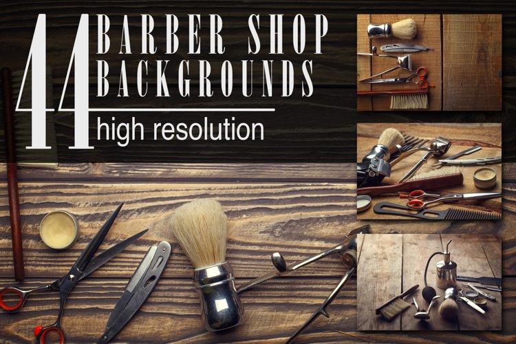 Barber shop wooden backgrounds JPG set example