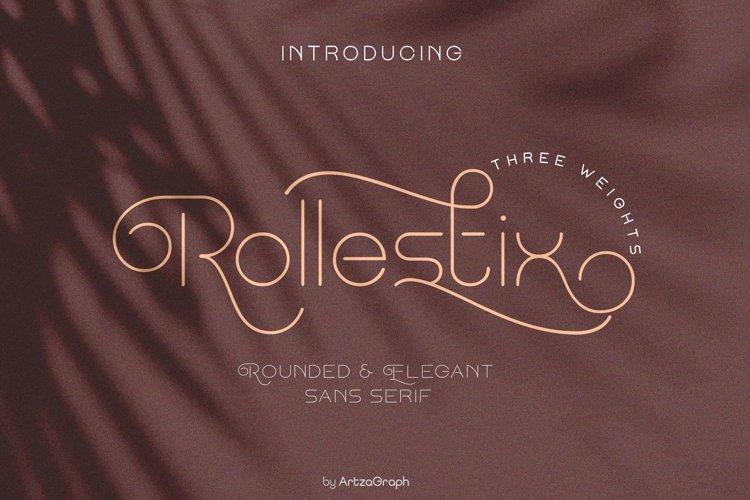 Rollestix - Rounded & Elegant sans serif example image 1