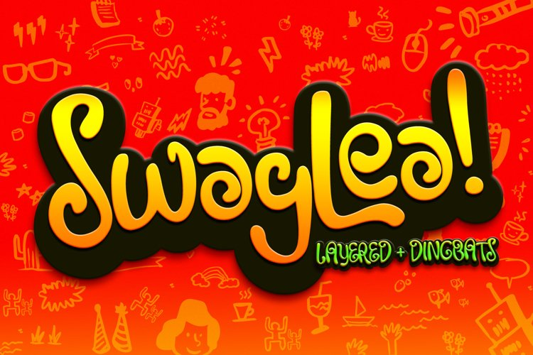 Swaylea | Layered Font and Dingbats example image 1
