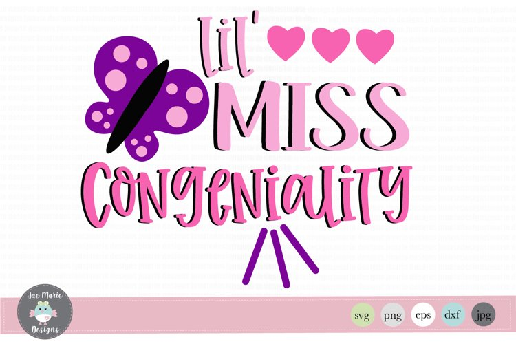 lil miss congeniality svg, talkative girl svg, school svg example image 1