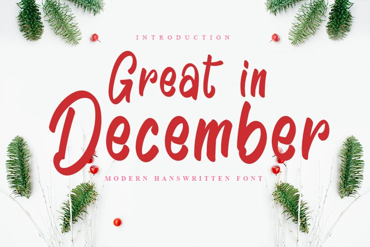 Great In December - Modern Handwritten Font example image 1