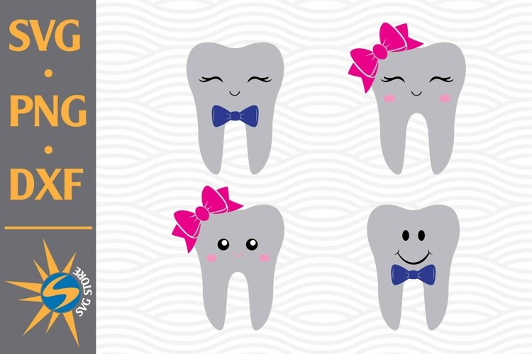 Cute Tooth SVG, PNG, DXF Digital Files Include