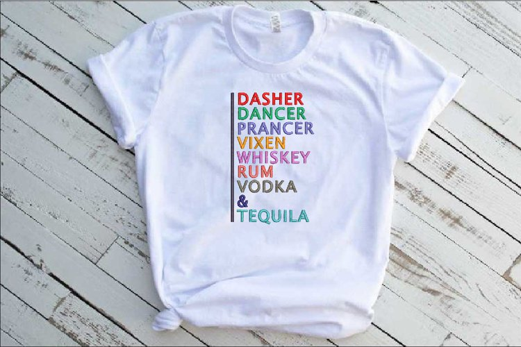 Embroidery Dasher Dancer Tequila Rum Vodka Whiskey 242b example image 1