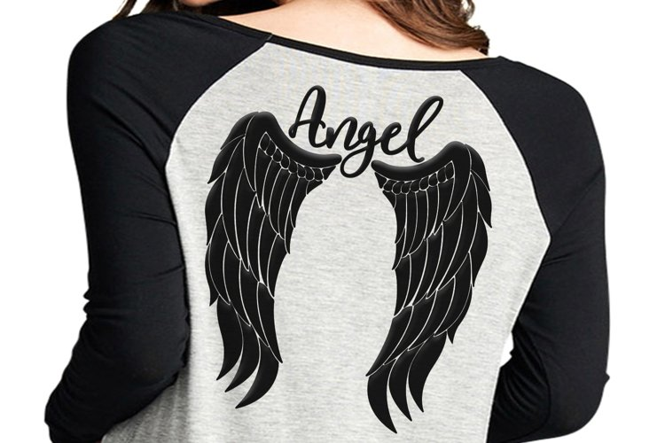 Angel wings svg, angel svg, feather wings svg, angel jpg, angel wings shirt design, angel clipart, wings svg, dxf, png, cricut file,clip art example image 1