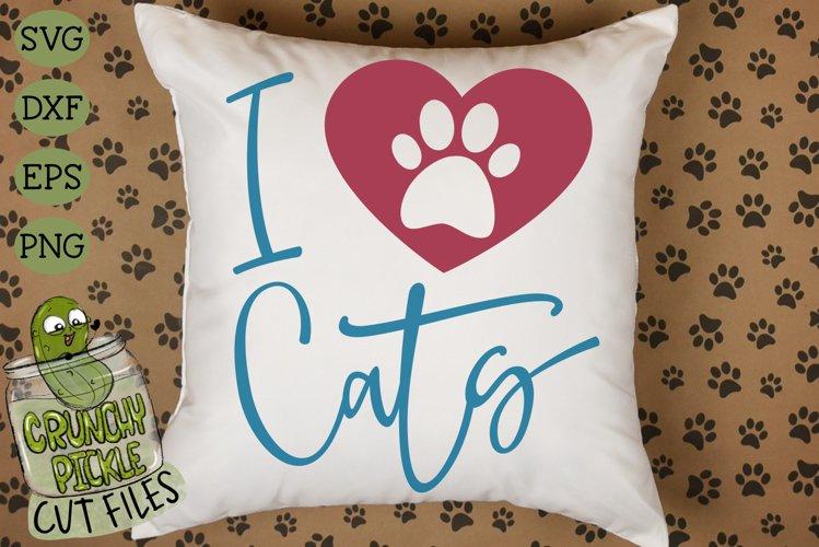 I Heart Cats SVG Cut File