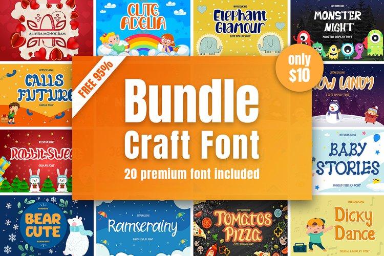 Crafting Font Bundle