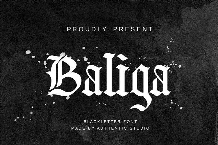 Baliga Blackletter Font example image 1