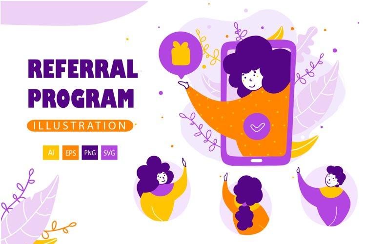 Referral program - Cartoon Illustrations example image 1