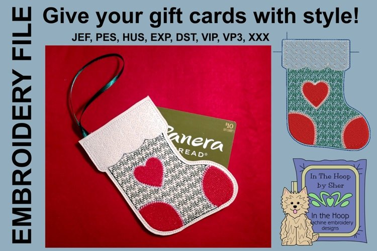 ITH Stocking Gift Card Holder Ornament example image 1