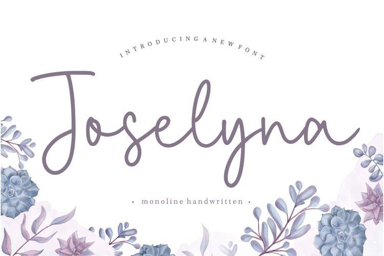 Joselyna Monoline Handwritten Font example image 1
