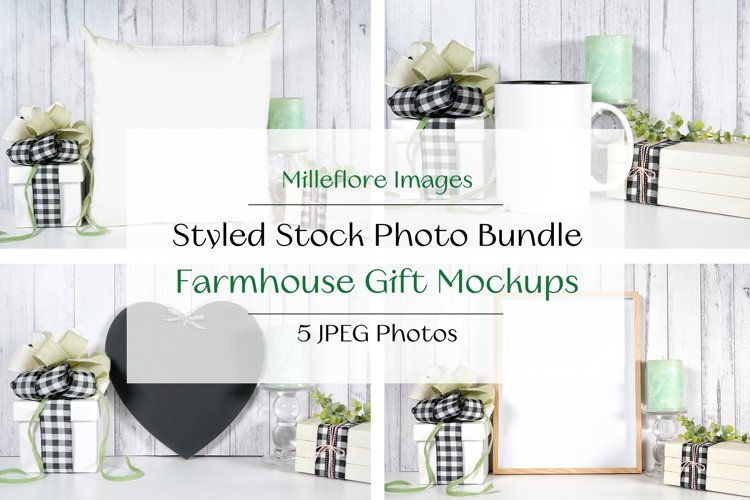 Farmhouse Gifts & Craft Product Mockups JPEG Photos Bundle