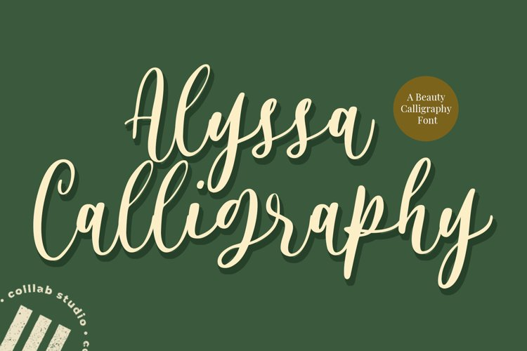 Alyssa Calligraphy - A Beauty Calligraphy Font example image 1