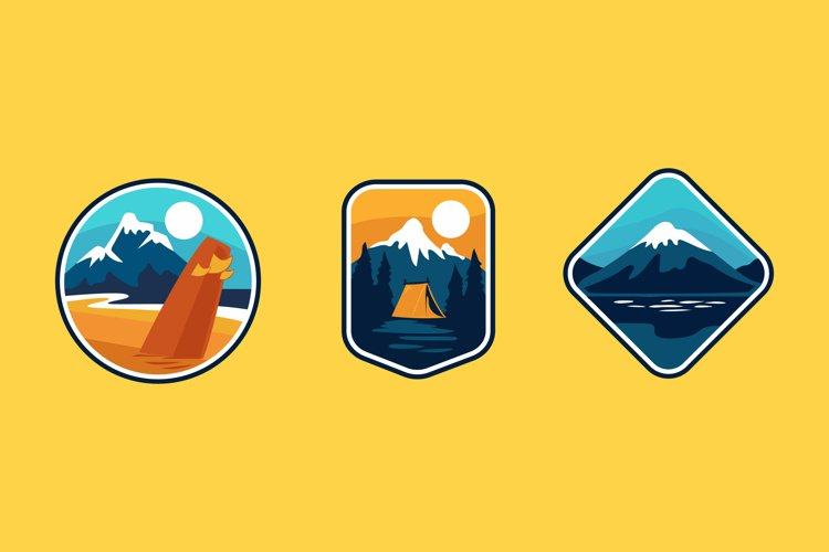 Nature Badge illustrations example image 1