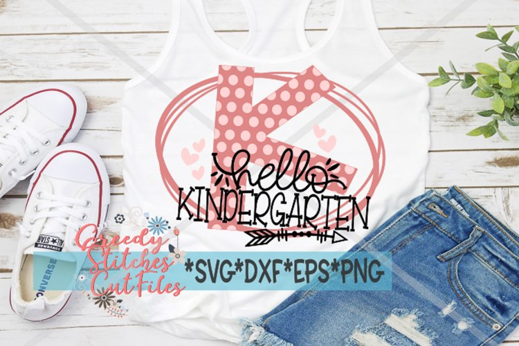 Hello Kindergarten SVG DXF EPS PNG example image 1
