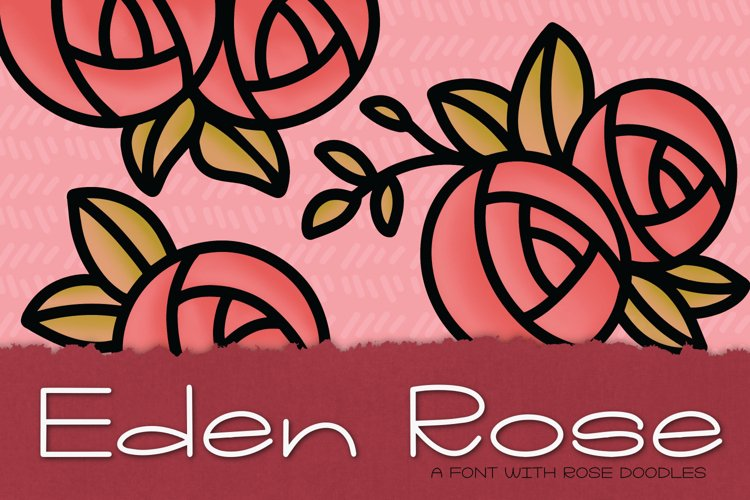 Eden Rose a Hand Lettered Font with Doodles example image 1