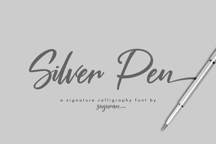 Silver Pen Script