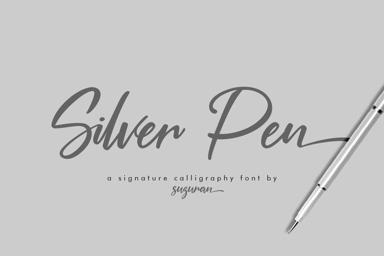 Silver Pen Script example image 1