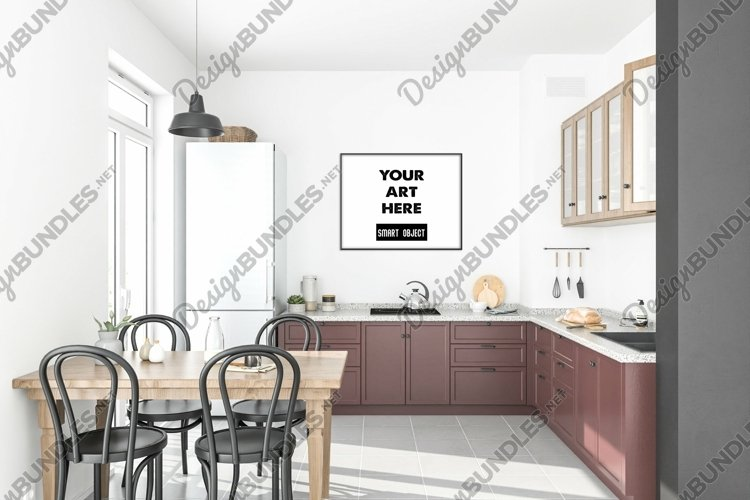 Horizontal frame mockup - movable & scalable frame example image 1