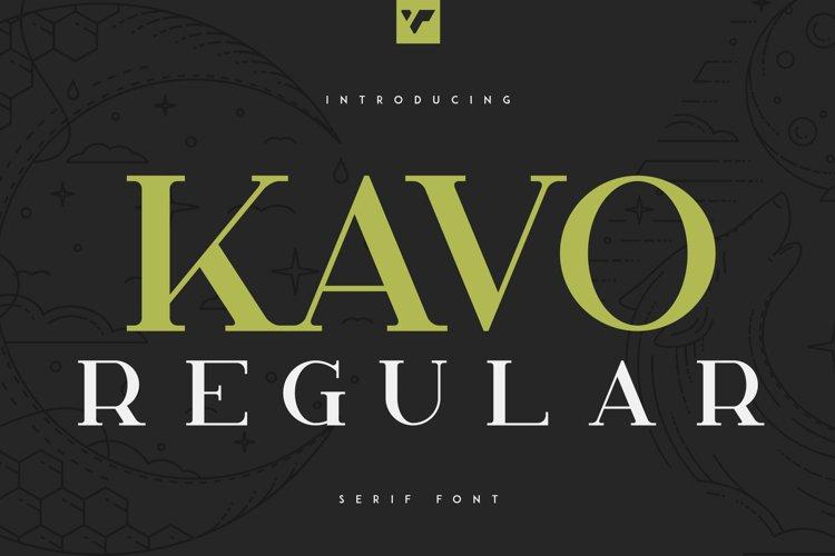 Kavo Serif Regular example image 1