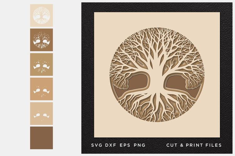 Download Tree Of Life Svg Cut File Mandala Multilayer Layered Svg 582139 Cut Files Design Bundles