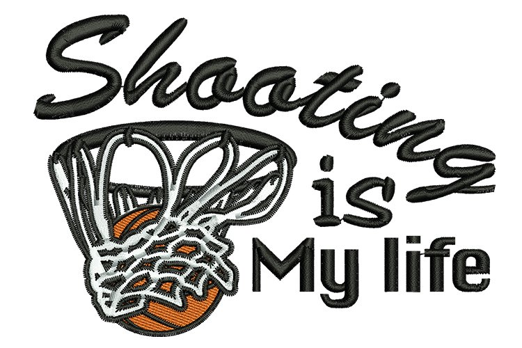 Shooting is my life machine embroidery designs