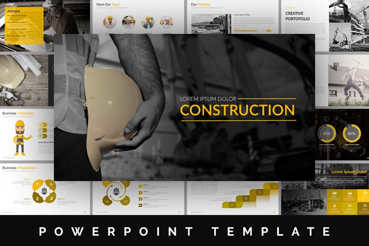 Construction Powerpoint Template example image 1