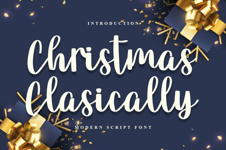 Christmas Classically - Modern Script Font example image 1