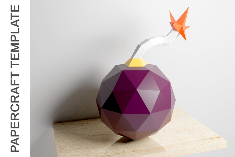 PDF Template of Canon Bomb Papercraft / 3D Papercraft example image 1