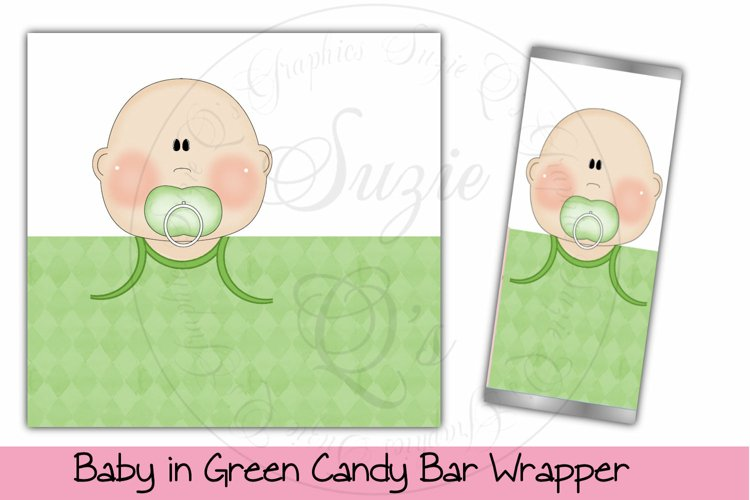 Baby in Green Candy Bar Wrapper, Light Skin example image 1