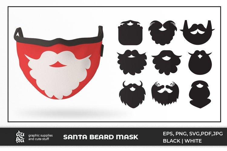 9 Santa Beard for Mask design - Bundle