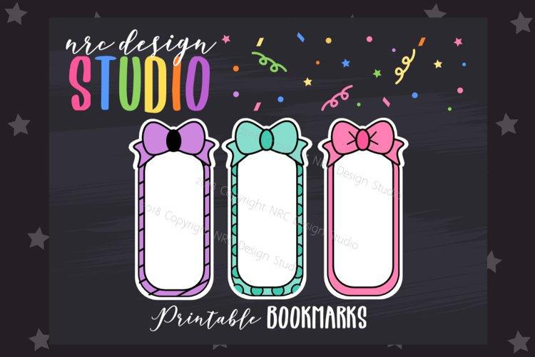 Bow Bookmark, Planner Printable