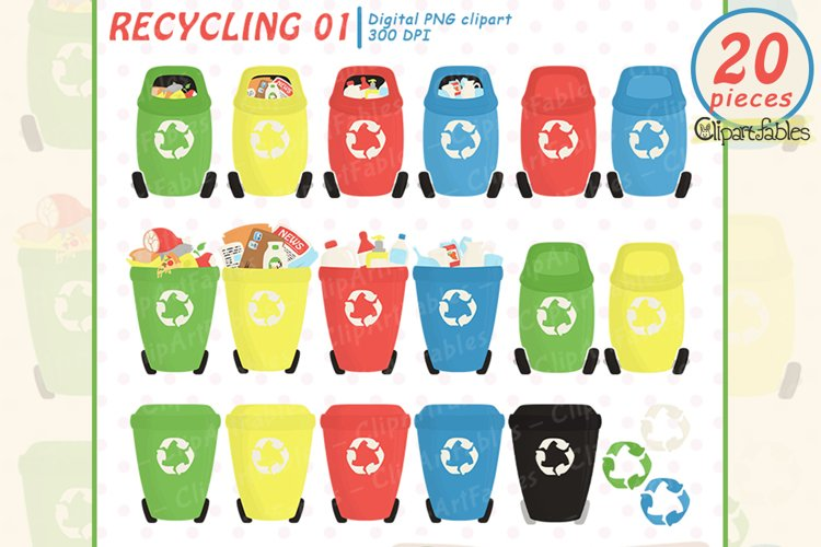 Cute RECYCLING clipart, Recycle, Save the Earth clip art
