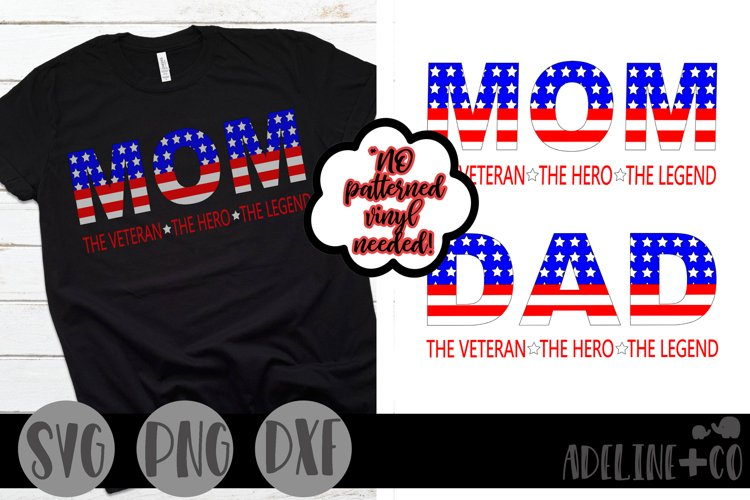 The Veteran, The hero, The legend bundle, SVG, PNG, DXF example image 1