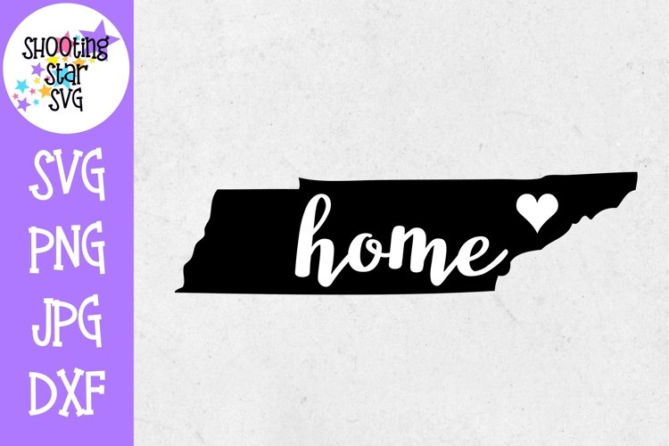 Tennessee Home State with Heart - 50 States SVG example image 1