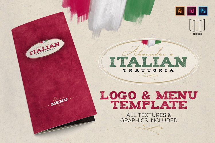 Italian Trattoria Menu & Logo example image 1
