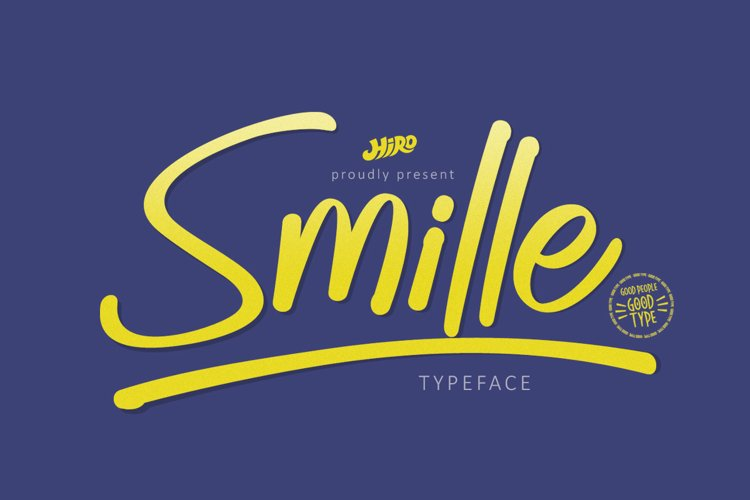 Smille - Solid Brush Font example image 1