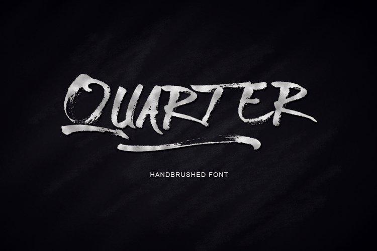 Quarter Font example image 1