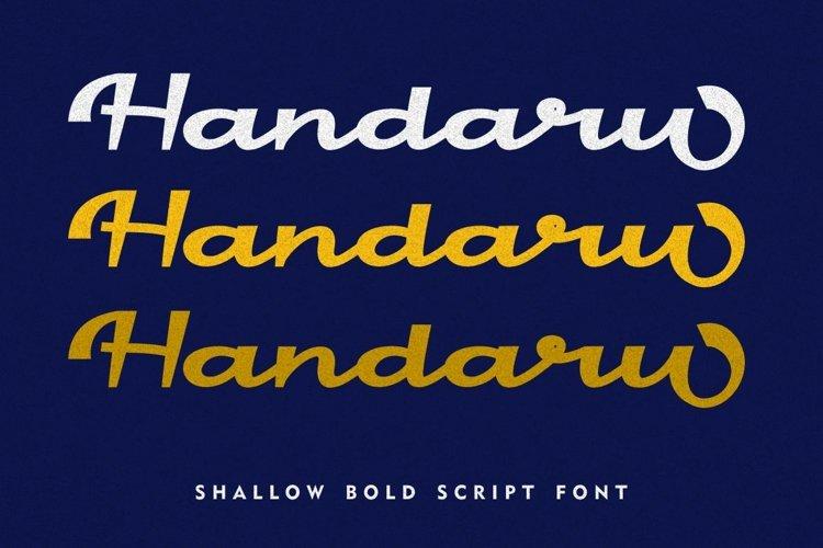 Handaru - Shallow Bold Script