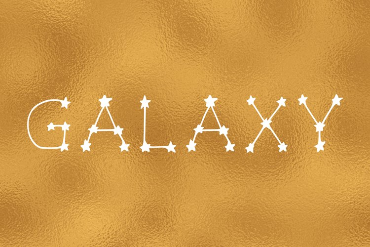 Galaxy handwritten font in ttf, otf example image 1
