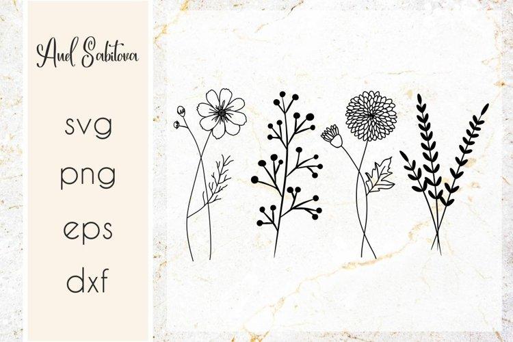 Wildflowers SVG , Flowers Cut files, Raising wildflowers SVG example image 1