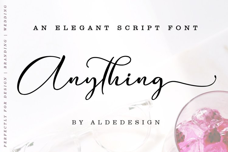 Anything Script || 8 Fonts example image 1