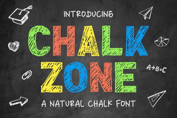 Chalk Zone- A Natural Chalk Font example image 1