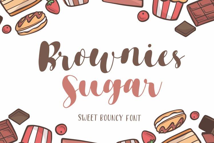 Brownies Sugar - Sweet Bouncy Font example image 1