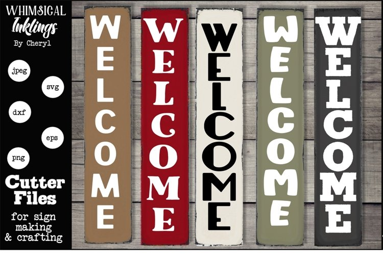 Vertical Welcome SVG Collection example
