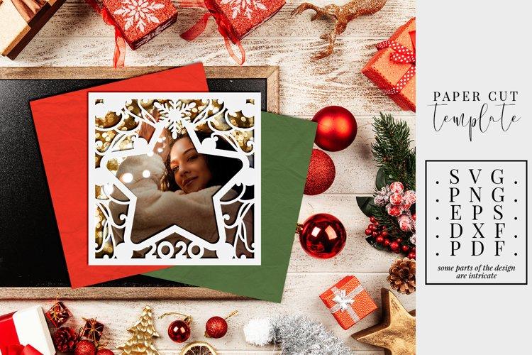 Star Photo Frame 2020 Papercut Christmas Card Making Svg 651987 Paper Cutting Design Bundles